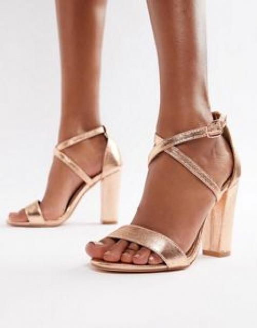 Glamorous - Sandales à talons carrés et brides croisées