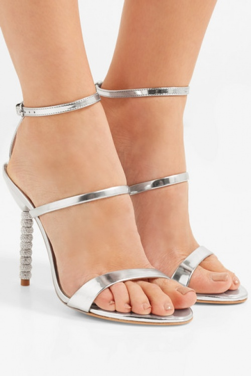 Sophia Webster - Sandales en cuir métallisé