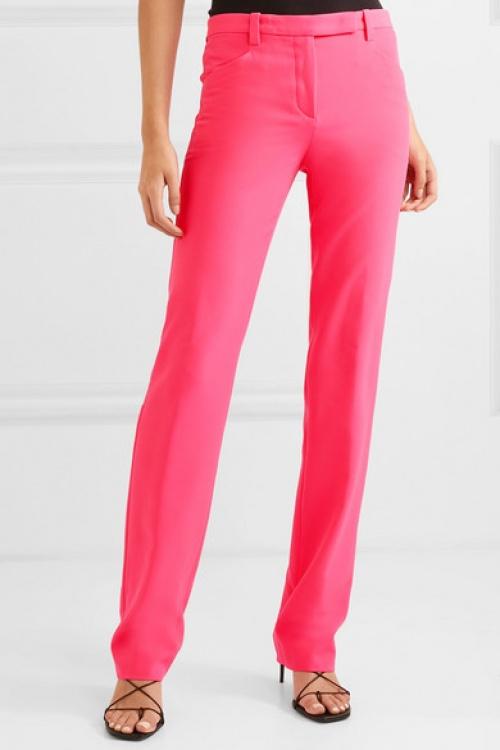 Versace - Pantalon droit en cady fluo