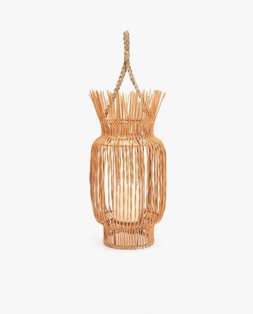 Zara Home - Lanterne rotin tressé
