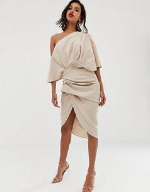 ASOS EDITION - Robe asymétrique mi-longue