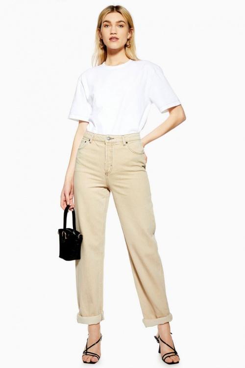 Topshop - Jean ample beige
