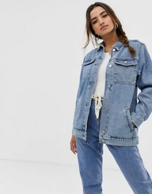 ASOS DESIGN - Veste coupe girlfriend en jean