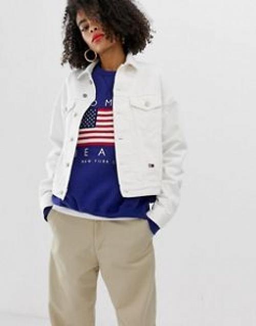 Tommy Jeans - Veste en jean avec drapeau