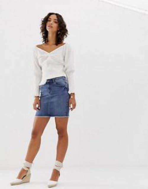 Pieces - Mini-jupe en jean