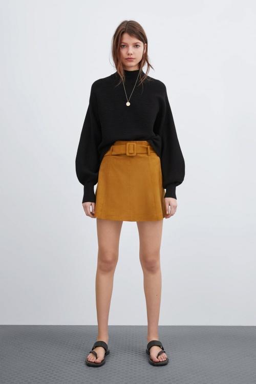 Zara - Mini-jupe effet daim