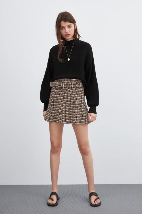 Zara - Mini-jupe en tweed