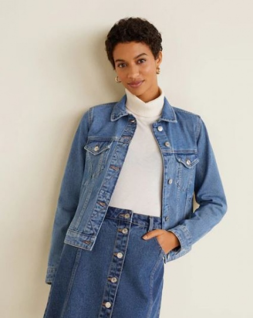 Mango - Veste denim poches