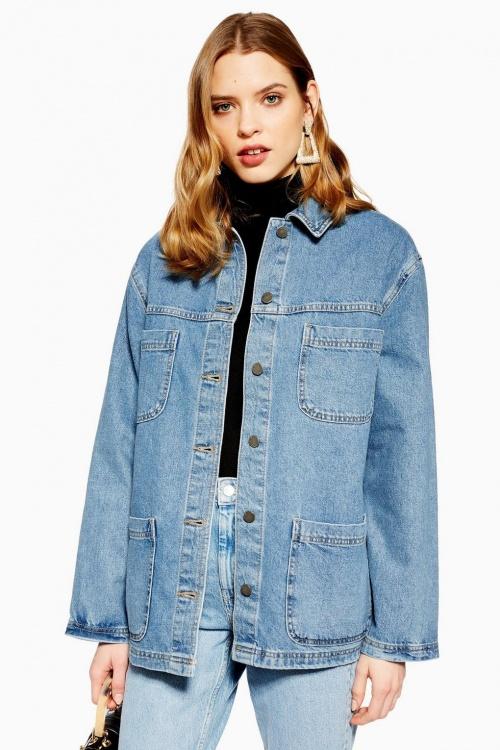 Topshop - Veste en jean avec double poche