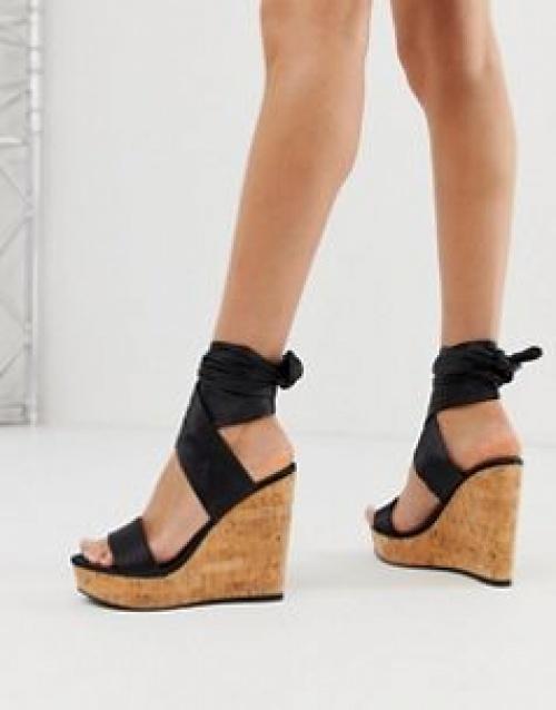 ASOS DESIGN - Twist - Chaussures compensées en liège