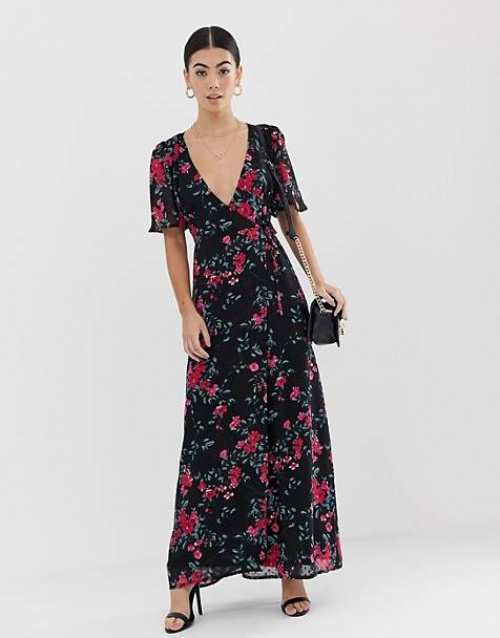 Fashion Union Petite - Robe longue fleurie