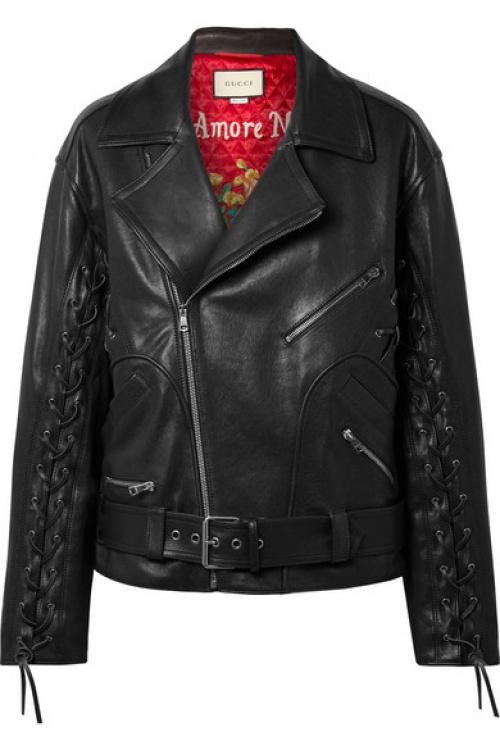 Gucci - Perfecto oversize en cuir peint