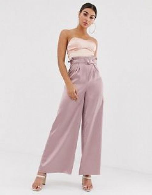 The Girlcode - Pantalon large avec ceinture