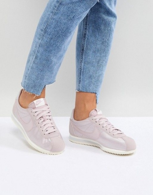 Nike - Cortez - Baskets en nylon satiné - Rose