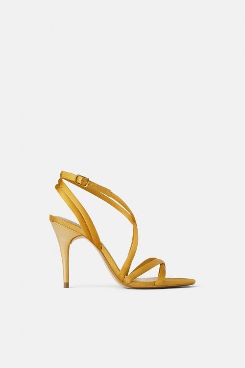 Zara - Sandales à talons en satin
