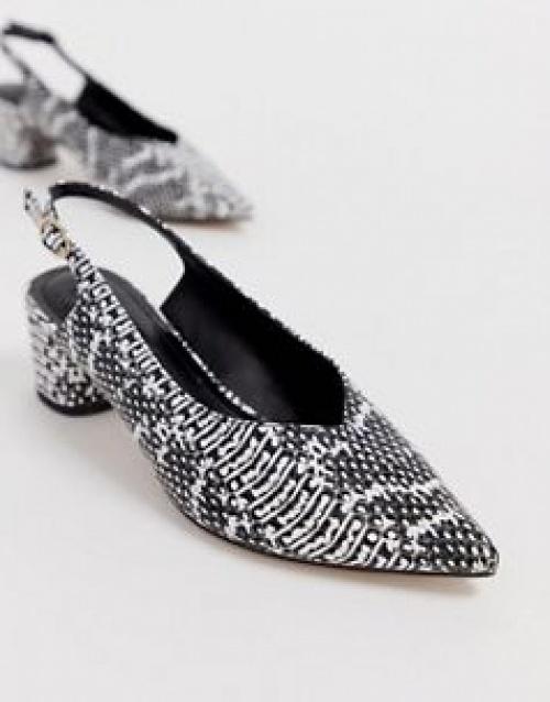 Miss Selfridge - Chaussures pointues à motif peau de serpent