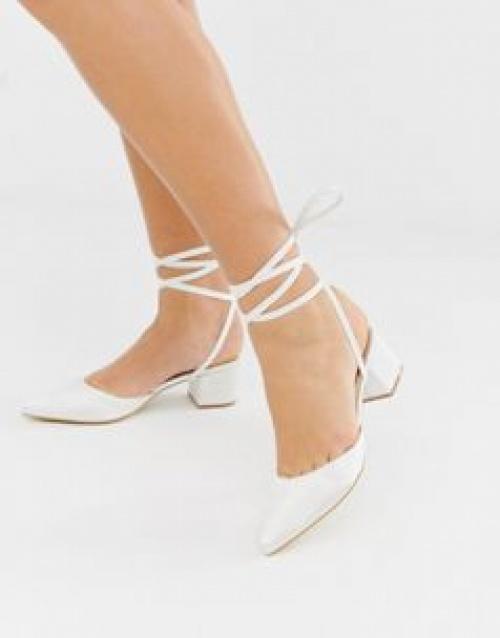 Be Mine - Bridal Anya - Chaussures en satin à talons mi-hauts