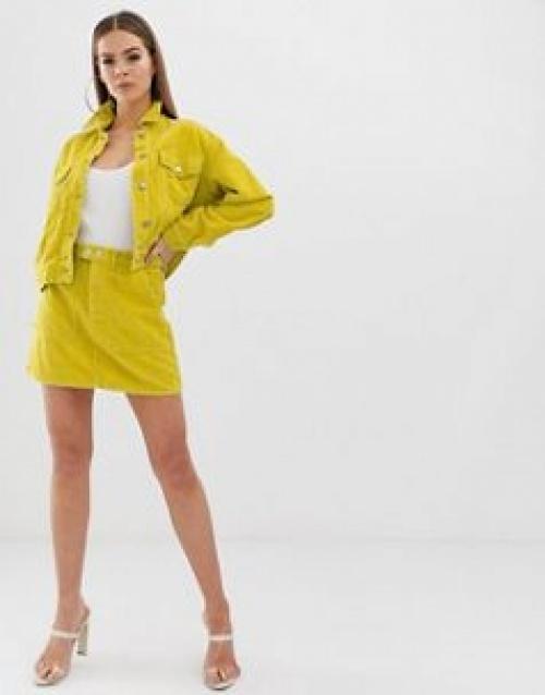 Missguided - Mini-jupe d'ensemble en velours côtelé