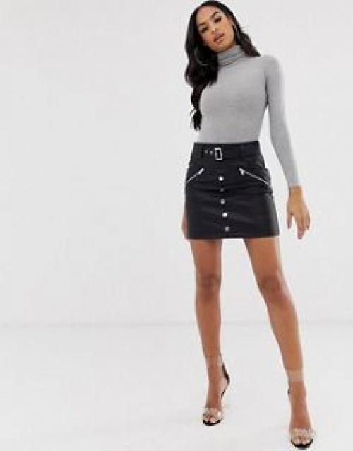 ASOS DESIGN - Mini-jupe en similicuir
