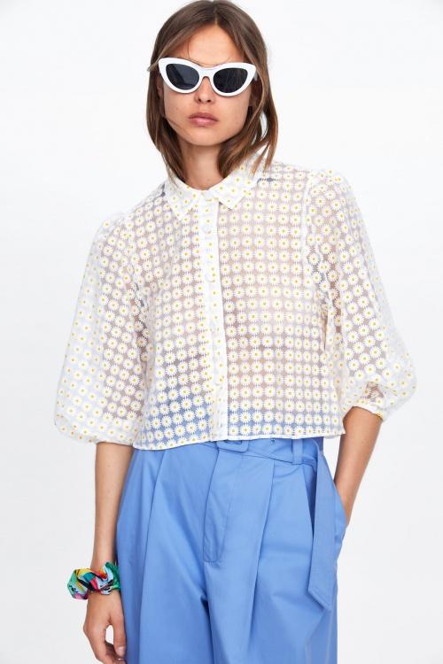 Zara - Blouse transparente
