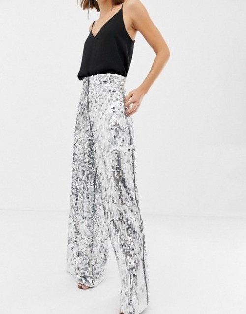 Asos Edition - Pantalon large à sequins