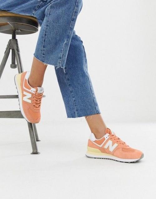 574 - Baskets - Corail pastel