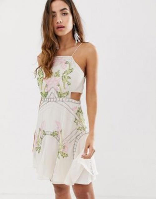 Asos Design - Robe courte à fleurs