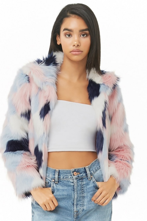 Forever 21 - Fausse fourrure pastel