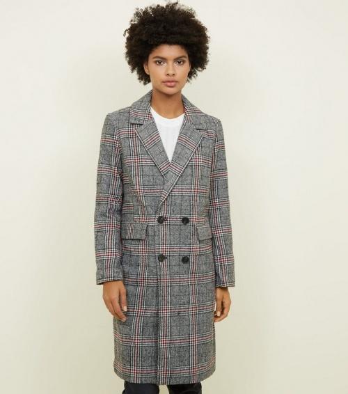 New Look - Manteau long à carreaux