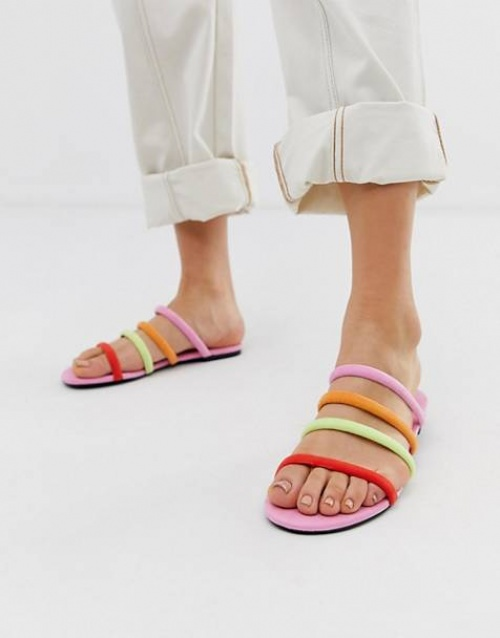 Monki - Sandales multicolores