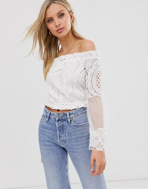 River Island - Top Bardot