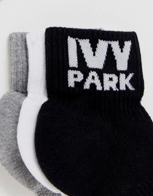 Ivy Park - Lot de trois paires de chaussettes avec logo