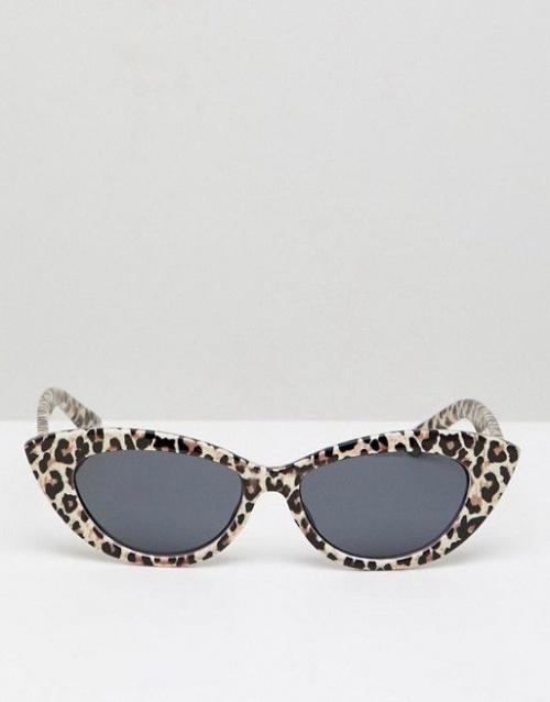 Asos Design - Lunettes de soleil yeux de chat motif léopard