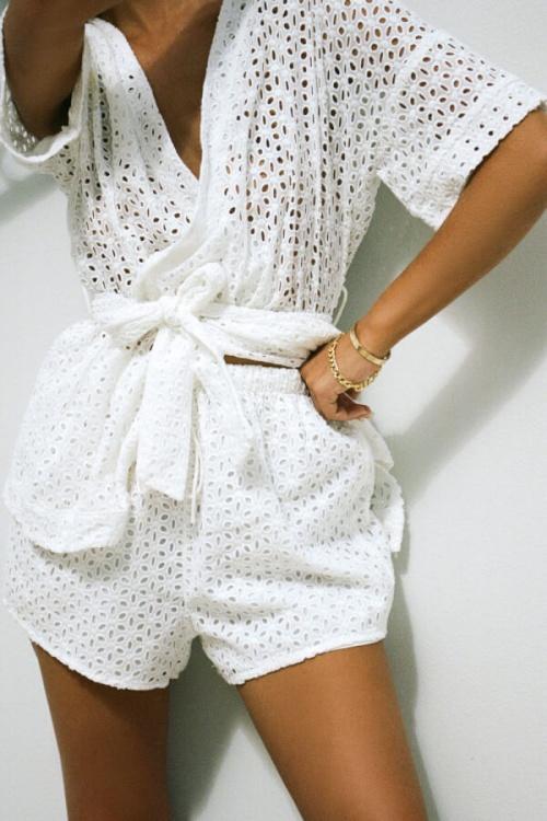 Sabo Skirt - Short brodé