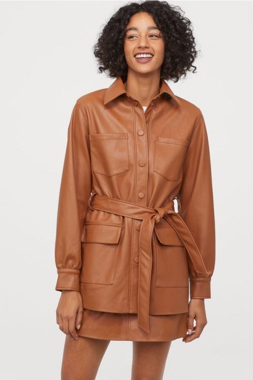 H&M - Veste en cuir