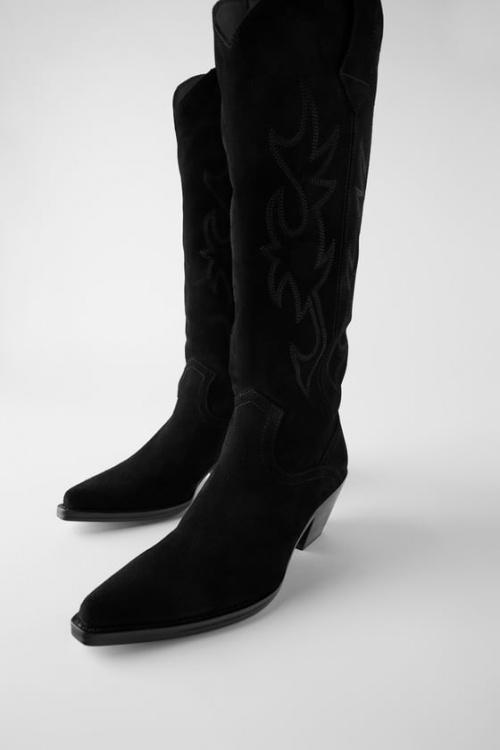 Zara - Bottes en croûte de cuir