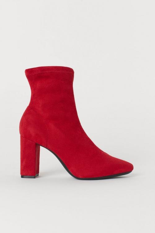 H&M - Bottines rouges