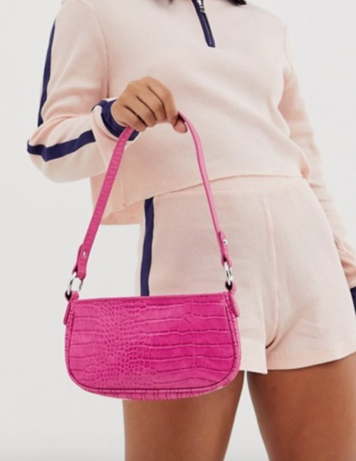 Asos Design - Sac croco rose