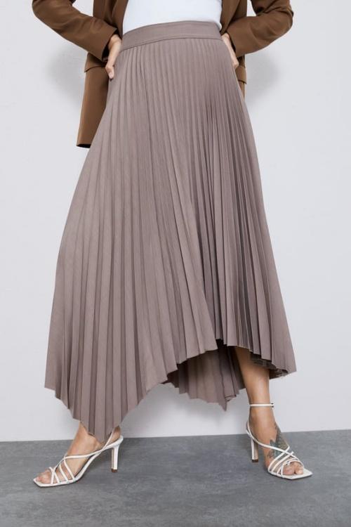 Zara - Jupe plissée asymétrique