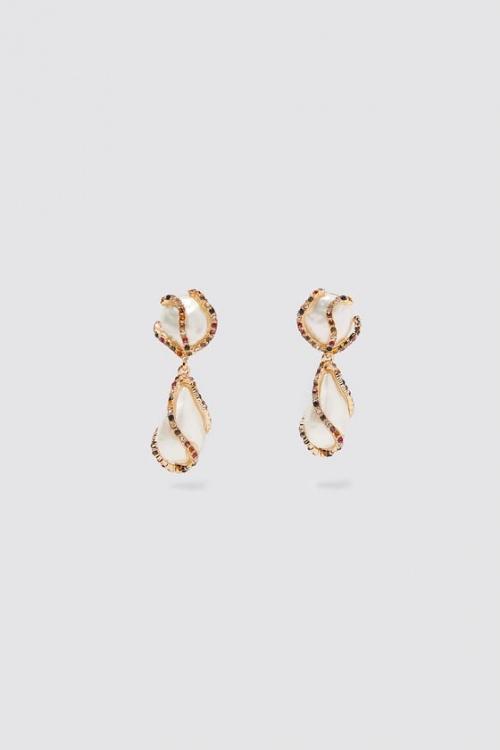Zara - Boucles d'oreilles à perles et strass