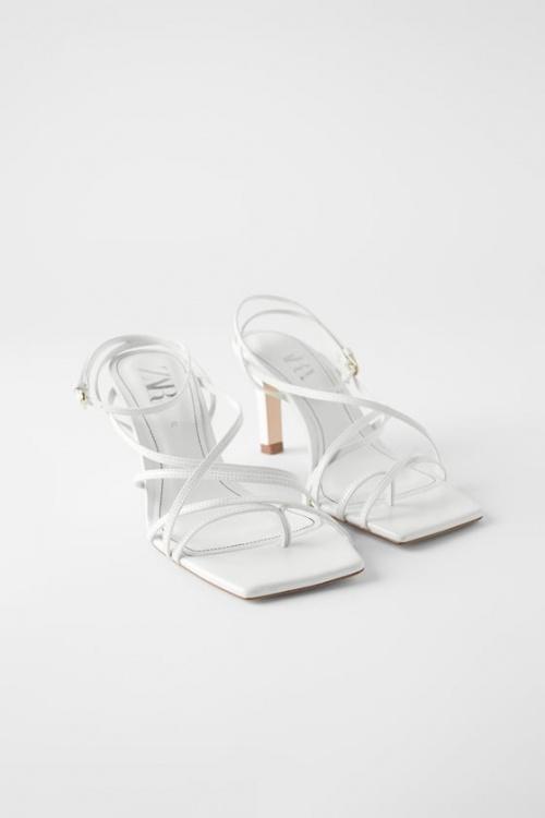 Zara - Sandales blanches à talons