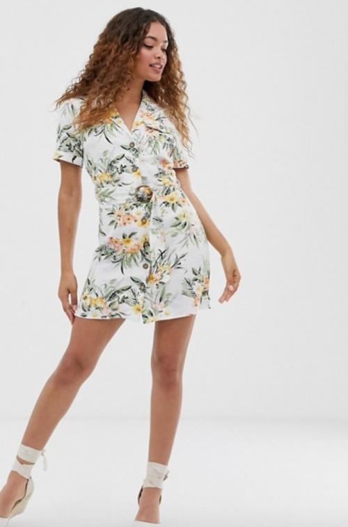 Miss Selfridge - Robe imprimé tropical
