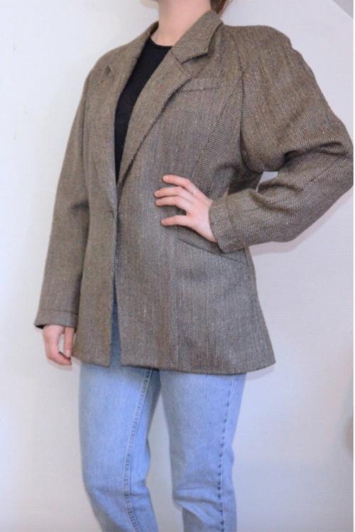 Etsy - Veste tailleur tweed épaules 80