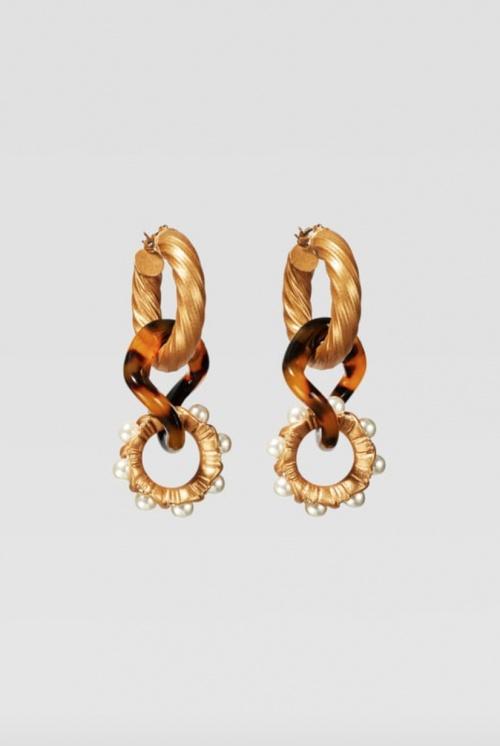 Zara - Boucles d'oreilles à anneaux et perles