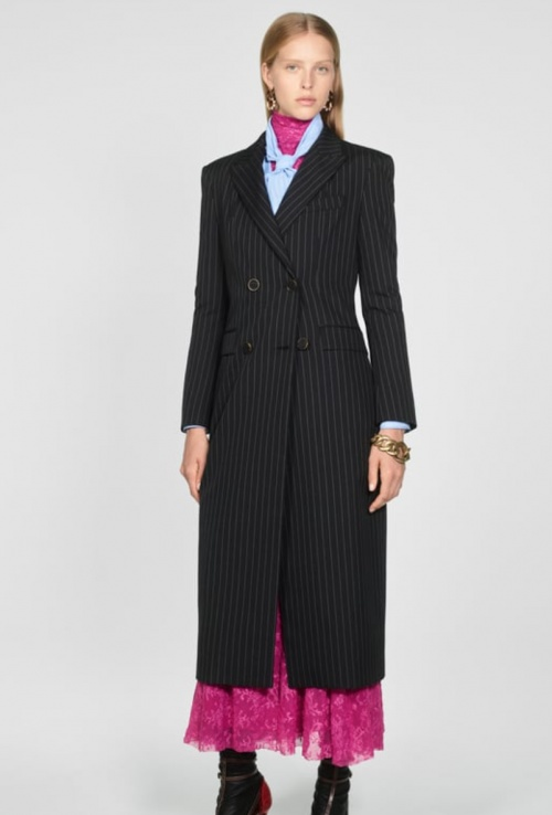 Zara - Manteau à rayures