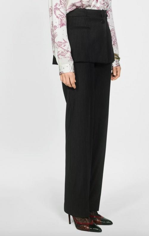 Zara - Mi-jupe mi-pantalon à rayures