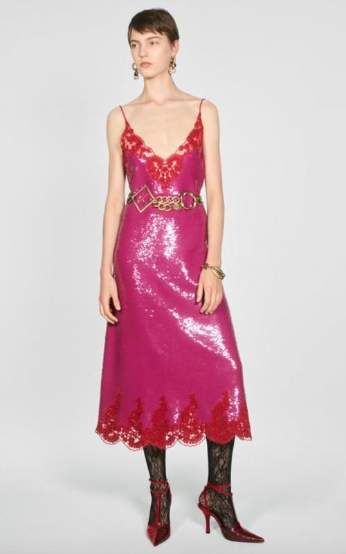Zara - Robe nuisette à paillettes