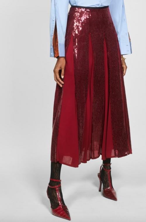 Zara - Jupe longue à paillettes