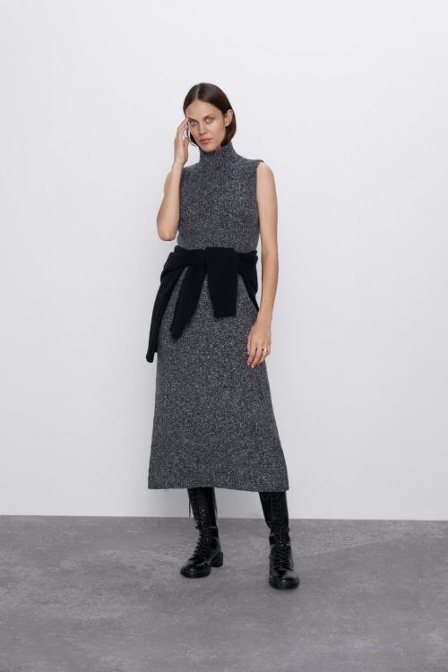 Zara - Robe longue en maille