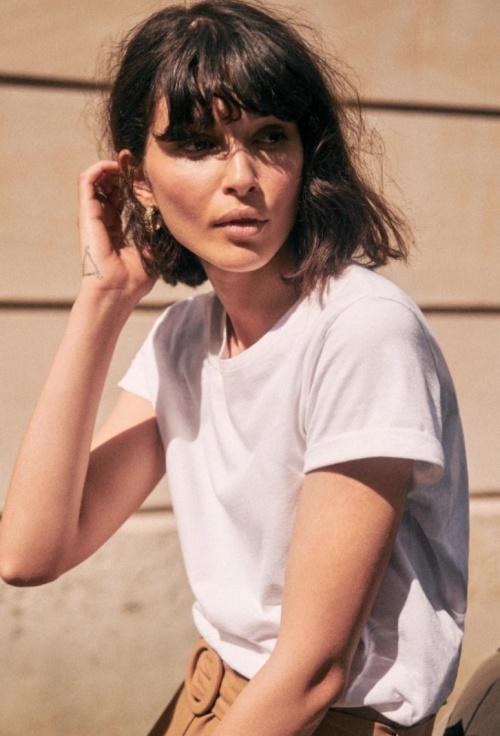 Sézane - T-shirt blanc